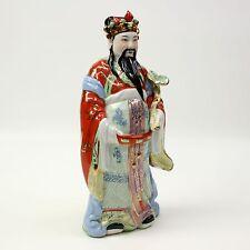 "15"" Vtg Porcelain Guan Yu Gong Chinese Warrior General Figurine Warrior Statue"
