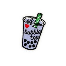 Winks For Days Bubble Tea Embroidered Iron-On Patch
