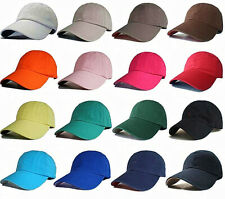 LOT Polo Style Baseball Caps Adjustable Hats Washed Cotton Plain Solid Ball Cap