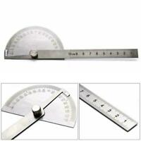 180 degree Stainless Steel Protractor Angle Finder Measuring Arm Ruler Tool B4F9