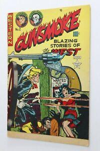 GUNSMOKE # 2 - 1949 - EXPORT - CANADIAN EDITION - Masked Marvel - HEADLIGHTS WOW