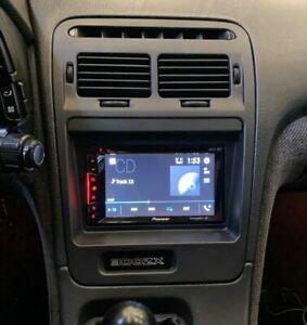 Double-Din Radio Bezel w/ Brackets, fits: Nissan Z32 300zx LHD Models