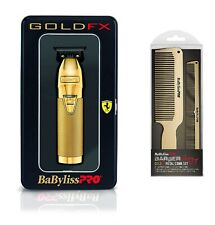 BaByliss PRO Hair Trimmer FX787G GOLDFX Skeleton Outlining T-Blade w Comb Barber