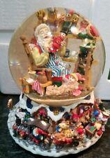 Christmas musical Waterball Globe Toy Train Santa's Workshop Water Ball snow new