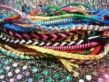 Lot of  100! Random Friendship Bracelets Fishtail Rainbow Love Hippie Peace