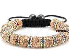 4pcs/lot 10mm men women disco pave beige Beads Crystal Shamballa Bracelet bangle