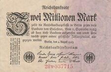 * Ro. 102c - 2 millones de marcos-Deutsches Reich - 1923-Fz: V *