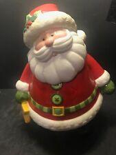 Fitz and Floyd Holiday Folk Santa Claus Jolly St. Nick Cookie Jar-Brand New