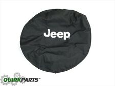 1997-2017 Jeep Wrangler Tire Cover White Logo MOPAR GENUINE OEM BRAND NEW