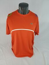 Lacoste Authentic Red Men's Ultra-Dry SPORT T-Shirt Size L