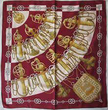 Authentique Foulard HERMÈS  CLIQUETIS 100% soie  TBEG vintage scarf --