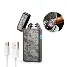 USB Rechargeable Windproof Double Arc FlamelessCigaretteLighter Electric