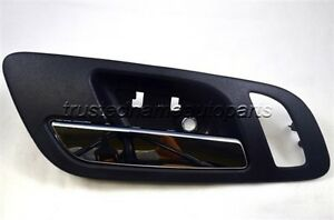 Black Chrome Lever Inside Door Handle Memory Heated Seat Hole Front Left Driver