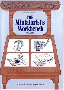 Dollhouse Miniature The Miniaturist's Workbench Vol 1 Instructional Book BOY710