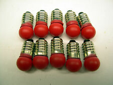 10 Red 18v Replacement Bulbs for American Flyer Accessories