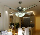 8092 Modern 48 Inches 4 Lights Diameter 122CM Rope Control Ceiling Fans Light