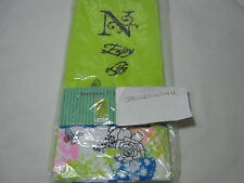 Blooming Impressions Embroidery Monogram N Guest Towels  Set of 2 Lime - Floral