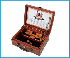 Circa Shut The Box Classic Wooden Vintage Dice and Numbers Game For Whole Family