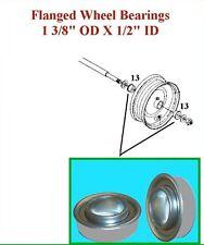 "4 Sealed Flanged Wheel Bearings 1 3/8"" 1.375"" OD 1/2"" .500"" ID"