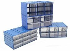 NEW Draw Box Plastic Parts Storage Drawers Slot Together System Size Choice