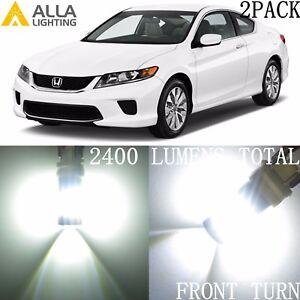 Alla Lighting LED Front Turn Signal Light Blinker Bulb Lamp for Honda,1157 White
