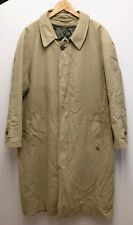 BUGATTI LONG BEIGE HEAVY GORE-TEX TRENCH COAT WITH REMOVABLE PADDED LINING