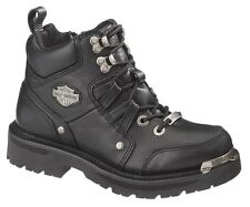 HARLEY-DAVIDSON FOOTWEAR Women's TRACEY Lace Zip Leather Motorcycle Boots D84496