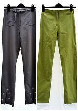 Donna 2 paia di pantaloni stretch Lime Green & grigio ricamato Bundle S 8-10
