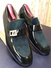 Vintage Florsheim Men's Shoes NOS 88023 Green Patent & Suede Leather Sz 9.5D