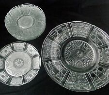 Crystal Cut Glass Plate Dish Dinner Dessert Clear Salad Saucers Fruit Lot 8