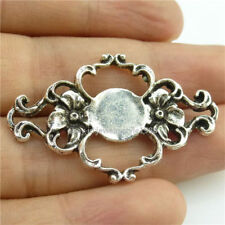 14285*5PCS Antique Silver Vintage Plant Flower Pendant Connector