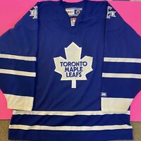 Toronto Maple Leafs Vintage CCM Sewn Stitched NHL Hockey Jersey Mens XL Canada