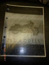 Harley Davidson 1999 Catalogo Ricambi -flt Modelli - 99456-99