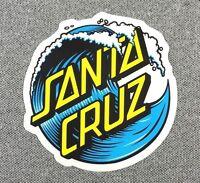 Santa Cruz Wave Dot Skateboard Sticker 3in si