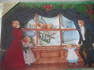 Look There's ANGELS (Watching Angel's with Tree) 3-D Pop Up Blank Xmas Card