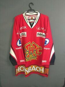 EHC Biel Jersey XL Hockey Shirt Trikot Red Swiss Switzerland ig93