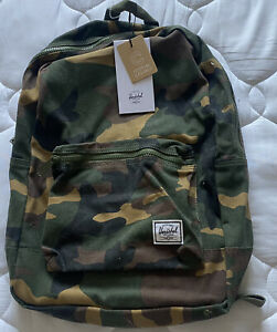 Herschel Supply Co. Cotton Casuals Daypack Backpack Woodland Camo