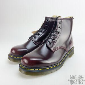 Dr Martens Men's Size 13 Dark Cherry Vegan Combat Boots