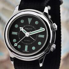 Poljot Retro 2612 Alarm Hand Wound Alarm Clock Analog Russian Watch NOS Vintage