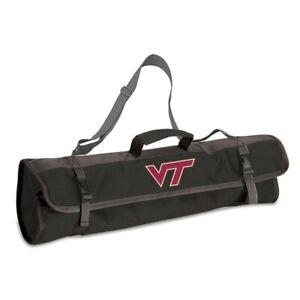 NCAA Virginia Tech Hokies 3-Piece BBQ Tool Set With Tote