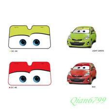 Red Summer Sun Visor Pixar Cars Lightning McQueen Front Car Windshield Sun Shade