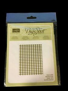 Stampin' Up Textured Impressions Embossing Folder Houndstooth 123134 Sizzix New!