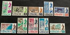 Gibraltar 🇬🇮 1960 - 10 used stamps - Michel No. 149-158