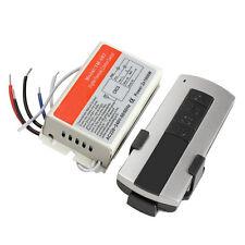 Wireless 4 Channel Light ON/OFF 220V-240V Remote Control Switch + Transmitter