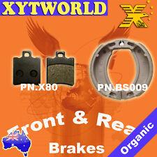 FRONT REAR Brake Pads Shoes YAMAHA BWs 50 1999 2000 2001 2002