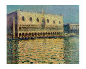 Monet - Doge's Palace Venice fine art giclee print poster wall art various sizes