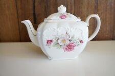 Sadler EUC Cube Square Teapot Floral Flower Spray Tea Pot 2897 Ceramic England