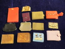 Vintage Change Purse Wallet 13pc Lot Varied Styles even 1 with Poodles    A33