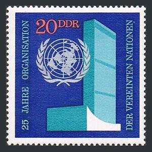 Germany DDR/GDR 1247, MNH. UN, 25th anniv. Headquarters, Emblem, 1970