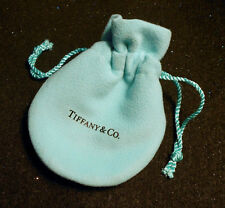 Tiffany & Co  Suede Drawstring Pouch Robin Egg Jewelry 2 Compartment Soft New